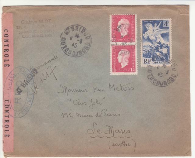 Tarif de la recommandation pendant la Deuxième Guerre mondiale _1000810