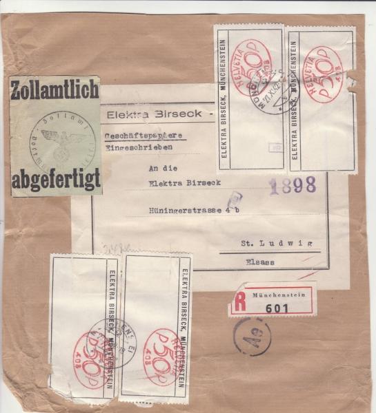 """Les marques des censeurs """"lecteurs"""" des centres de contrôle allemands : e Francfort/Main, additif.(2) _1001010"""