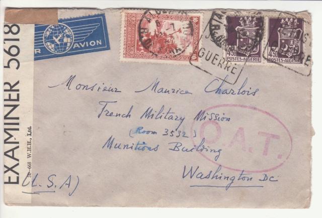 Lettre adressée à la Mission Militaire Française. _1001014