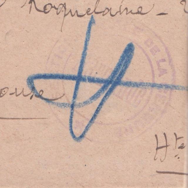 """Cachet """"Section Locale de la Censure / Marmande"""" sur lettre de mai 1943. _1001111"""
