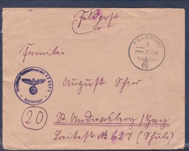 Lettre de la fortersse de Lorient de décembre 1944. _1001211