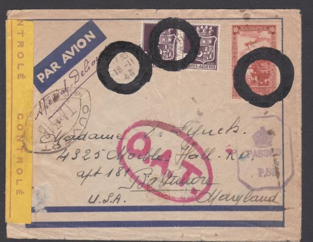 Lettre du croiseur Georges Leygues lors de son escale à Alger en novembre 1943. _1001310