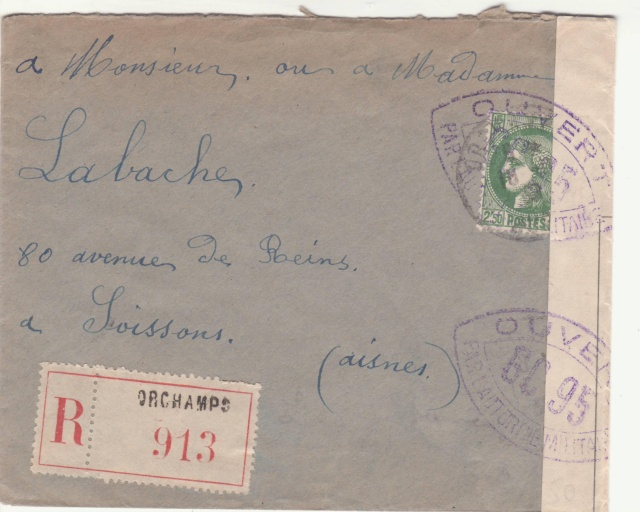 Tarif de la recommandation pendant la Deuxième Guerre mondiale _1001410