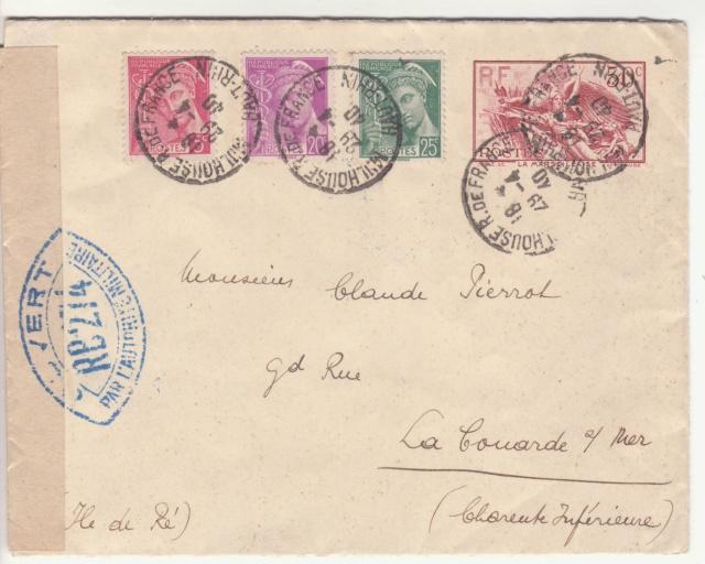 Tarif des lettres pendant la Deuxième Guerre mondiale _1001810