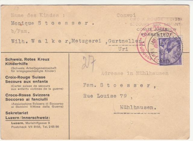Tarif des cartes postales pendant la Deuxième Guerre mondiale _1100013