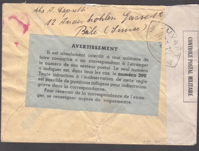 1940 Etiquette interdiction d'indiquer le secteur postal _1200023