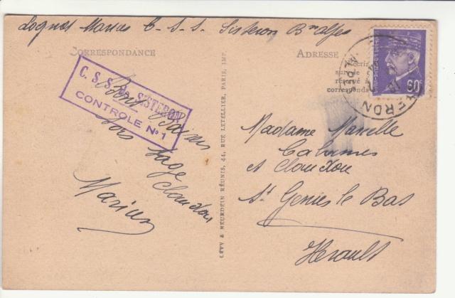 Tarif des cartes postales pendant la Deuxième Guerre mondiale _1300013