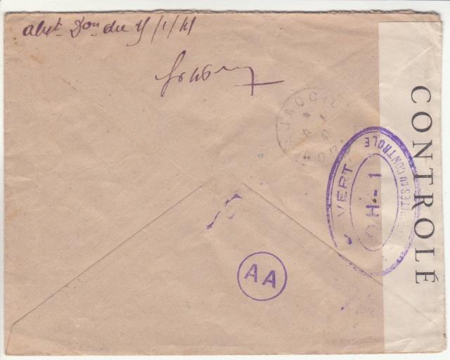 Tarif de la recommandation pendant la Deuxième Guerre mondiale _1400014