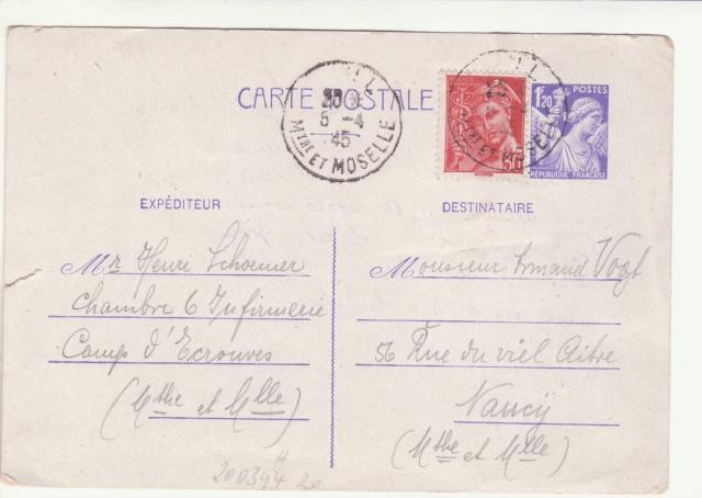 Tarif des cartes postales pendant la Deuxième Guerre mondiale _1500012