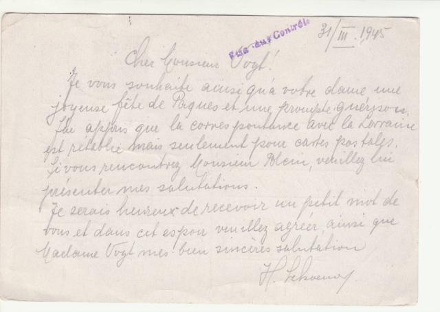 Tarif des cartes postales pendant la Deuxième Guerre mondiale _1600012