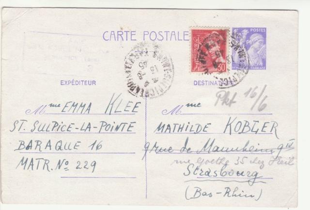Tarif des cartes postales pendant la Deuxième Guerre mondiale _1700012