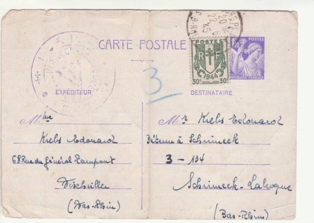 Tarif des cartes postales pendant la Deuxième Guerre mondiale _1900011