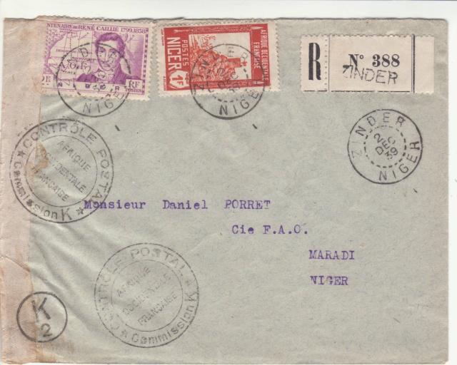 Tarif de la recommandation pendant la Deuxième Guerre mondiale _1_111