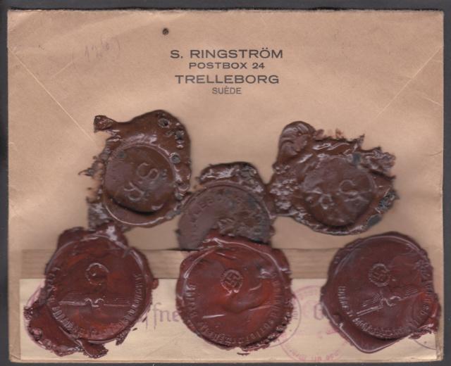 Lettre en VD (valeur déclarée) de Suède pour la Suisse 1943 _1d00210