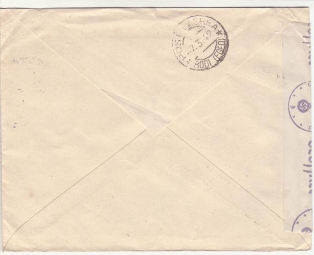 Censure italienne de Rhodes - Dodécanèse - Egée. _1d00212