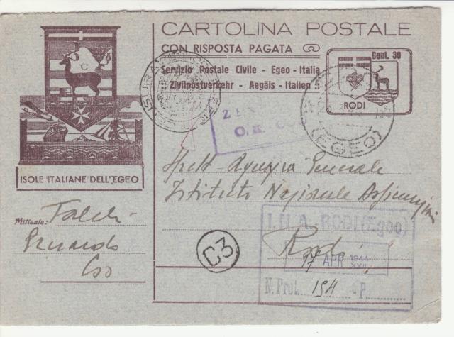 Censures allemandes en Mer Egée et dans le Dodécanèse. _1f00310