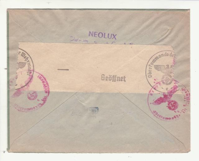 Lettre envoyée directement au centre de contrôle de Francfort/Main _2000211