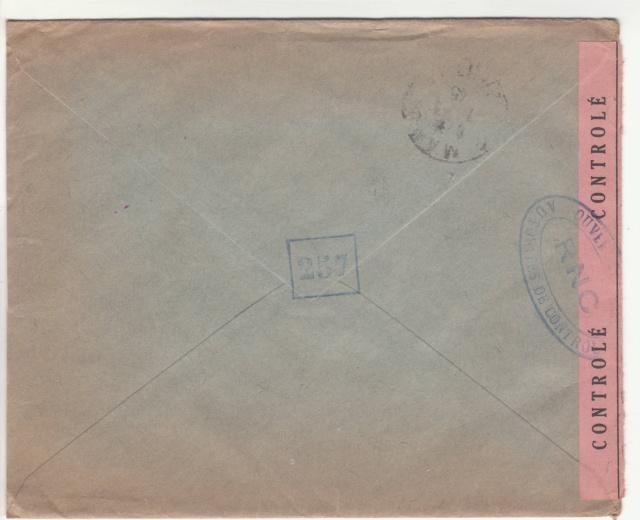 Tarif de la recommandation pendant la Deuxième Guerre mondiale _2000713