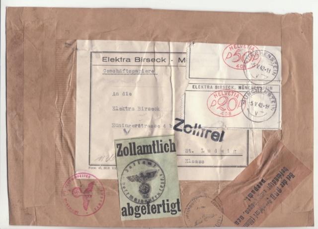 """Les marques des censeurs """"lecteurs"""" des centres de contrôle allemands : e Francfort/Main, additif.(2) _2001110"""