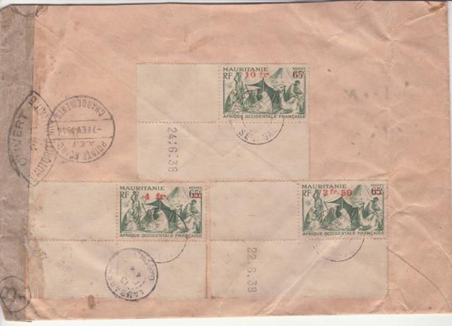 Série C.F.L.N. sur lettre de St. Louis (Sénégal) pour le Gabon. _2001313