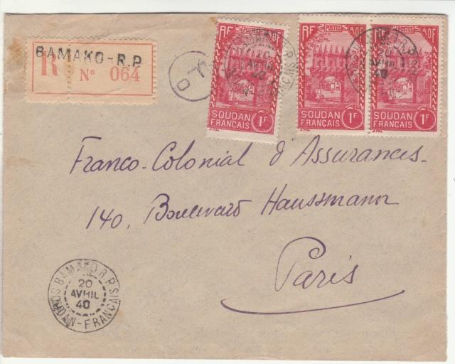 Tarif de la recommandation pendant la Deuxième Guerre mondiale _2_00010