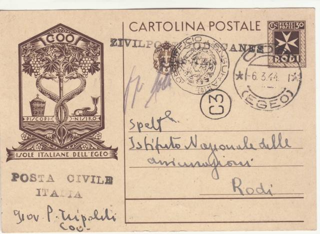 Censure italienne de Rhodes - Dodécanèse - Egée. _2f00211