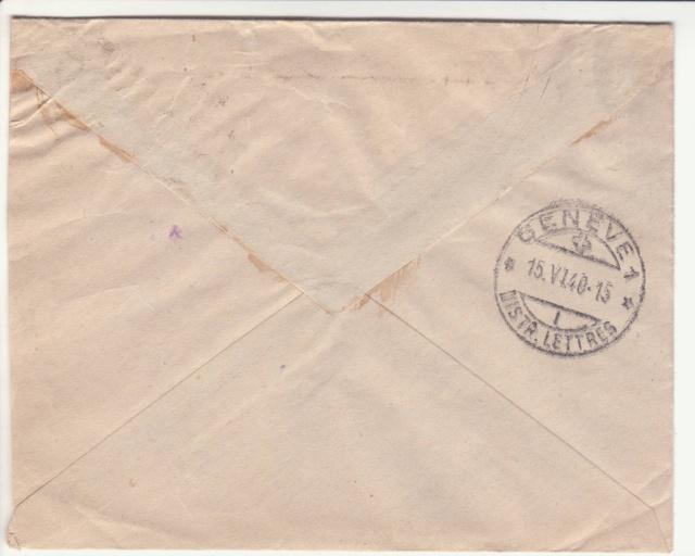 """Cachet circulaire double cercle """"175"""" sur lettre de la France pour le CICR. _3000511"""