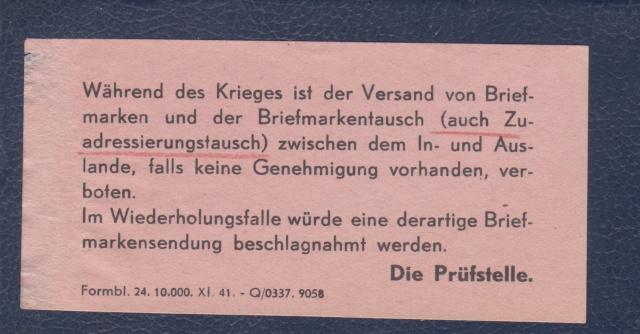 Bohème & Moravie - Lettre non conforme aux décrets des communications- Concernant le suraffranchissement. _3000610