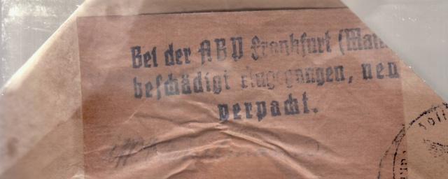 """Les marques des censeurs """"lecteurs"""" des centres de contrôle allemands : e Francfort/Main, additif.(2) _3000710"""