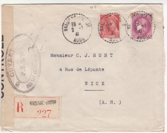 Tarif de la recommandation pendant la Deuxième Guerre mondiale _3000712