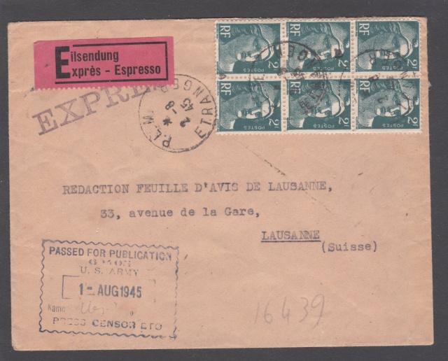 Le contrôle des informations - Censure de la Presse et  dela publication (1945 AZ130) _3000811