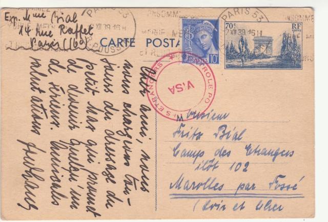 Tarif des cartes postales pendant la Deuxième Guerre mondiale _3000910