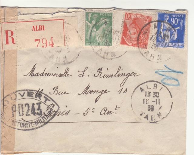 Tarif de la recommandation pendant la Deuxième Guerre mondiale _3000911