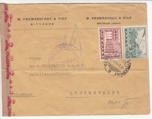Censures allemandes en Mer Egée et dans le Dodécanèse. _3f00210