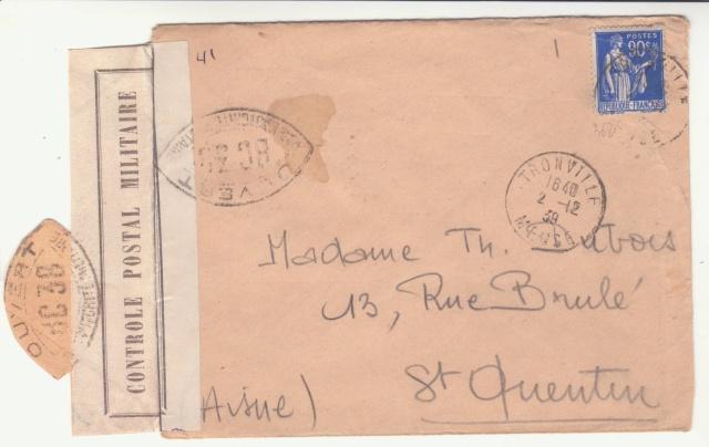 Tarif des lettres pendant la Deuxième Guerre mondiale _4000611