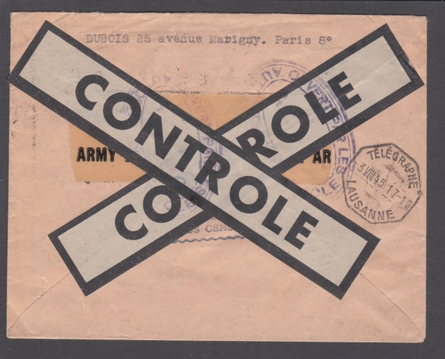 Le contrôle des informations - Censure de la Presse et  dela publication (1945 AZ130) _4000613
