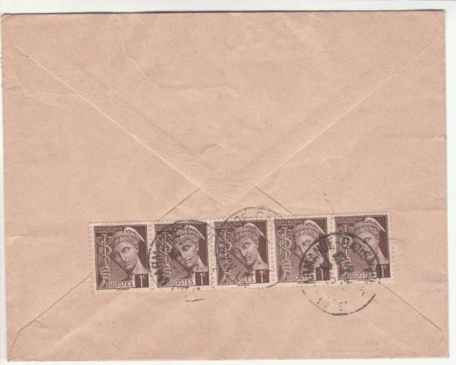 """Cachet """"Section Locale de la Censure / Marmande"""" sur lettre de mai 1943. _4000911"""