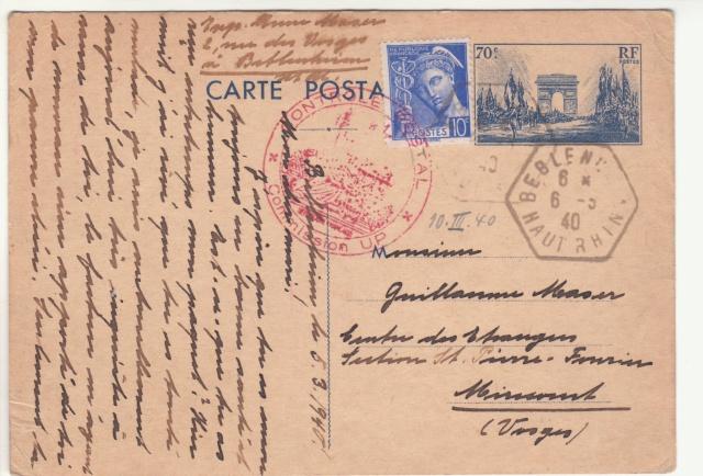 Tarif des cartes postales pendant la Deuxième Guerre mondiale _4001010