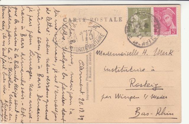 Tarif des cartes postales pendant la Deuxième Guerre mondiale _5000611
