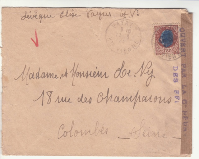 Lettre censurée par les FFI . _5000612