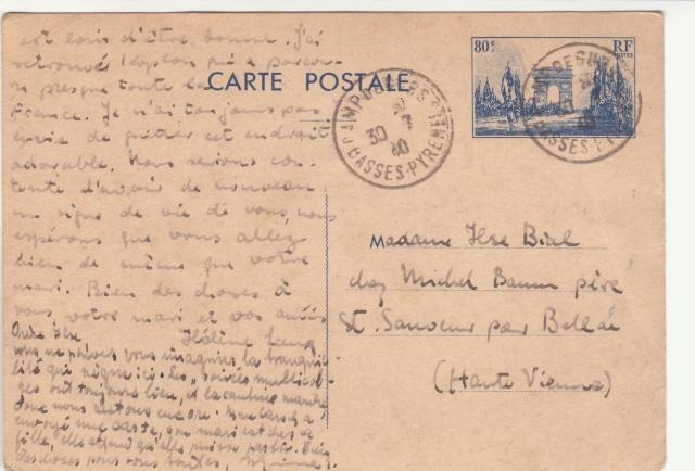 Tarif des cartes postales pendant la Deuxième Guerre mondiale _5000910
