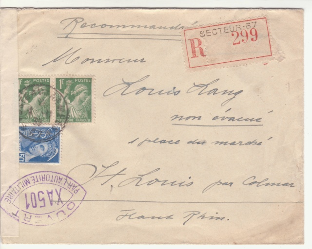 Tarif de la recommandation pendant la Deuxième Guerre mondiale _5000911