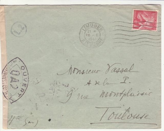 Tarif des lettres pendant la Deuxième Guerre mondiale _5001210