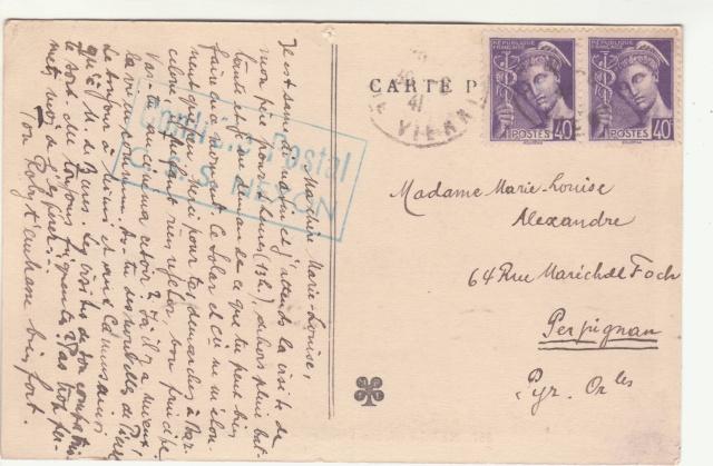 Tarif des cartes postales pendant la Deuxième Guerre mondiale _6000511