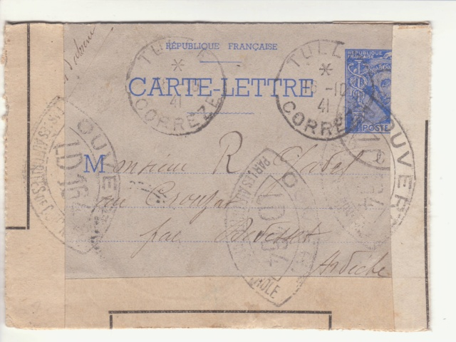 Tarif des lettres pendant la Deuxième Guerre mondiale _6000910