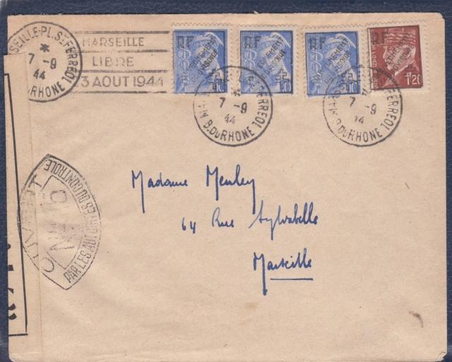"""Timbres surchargés """" RF GOUVERNEMENT PROVISOIRE + Croix de Lorraine """" ? _6000911"""