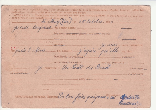 Carte Interzone Type 1 de passage au Stalag XVII B. _6000912