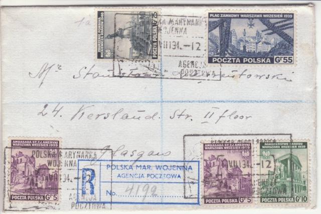 Timbres des forces polonaise en exil à Londres _6001010