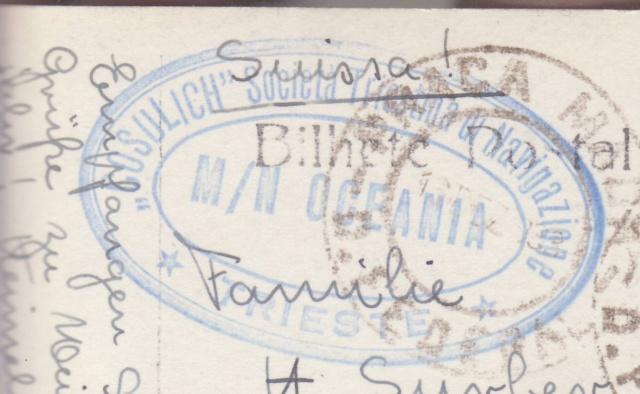 """Lettre de Rio transportée par le Paquebot """"Océania"""" 1939 _6001112"""