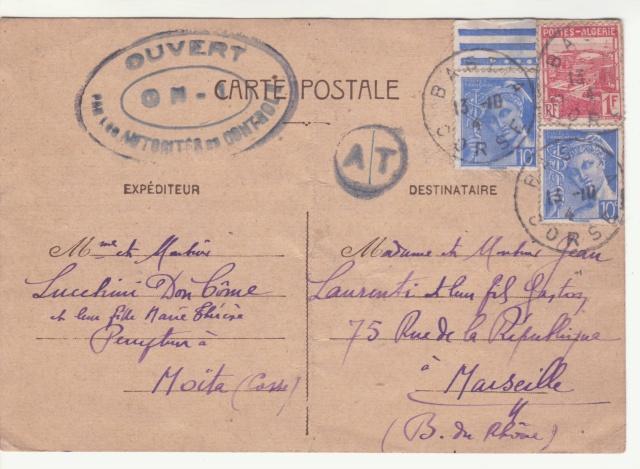 Tarif des cartes postales pendant la Deuxième Guerre mondiale _7000310